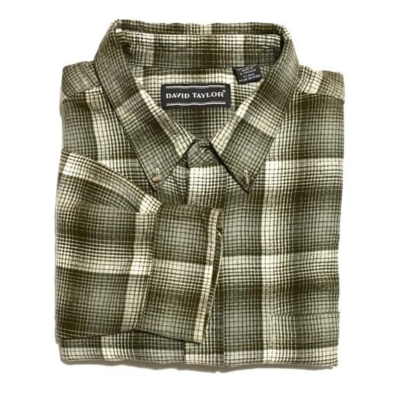 David Taylor Other - David Taylor Plaid Flannel Button Down Shirt XLT